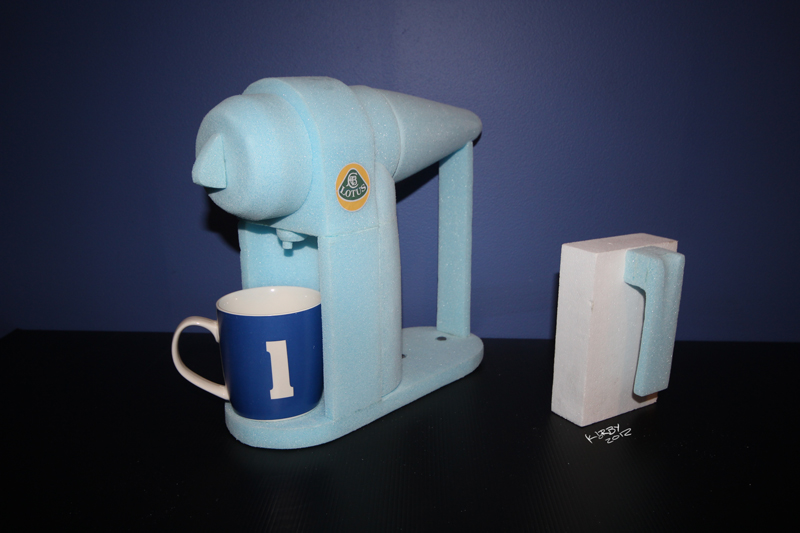 Coffee Machine Blue Foam